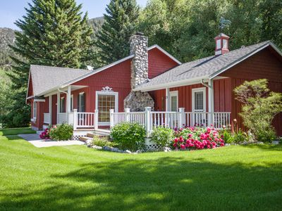 """Photo for Picturesque Paradise Valley Homestead aka the """"Red House at Carters Bridge"""""""