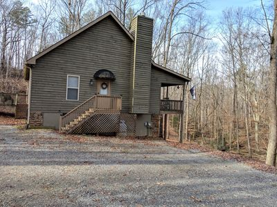 Photo for Rocky Road Hideaway - Cozy Cabin in the woods. Close to Helen And Dahlonega