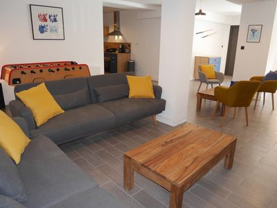 Photo for Very beautiful apartment of 167m2 opposite the slopes, Large terrace, 15/19 people