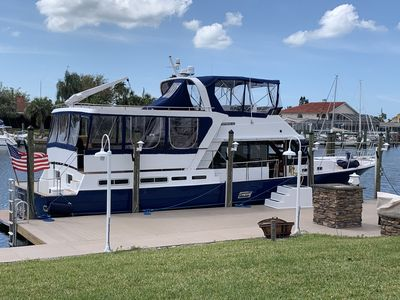Photo for Restored 55' Motor Yacht Tampa North, 4 Staterooms(8+), Large Entertaining Areas
