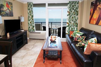 Lovely ocean front views from your living area.