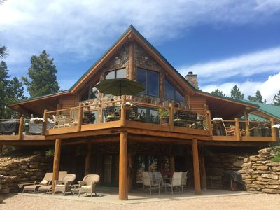 Photo for Family-Friendly, Very Private, Trout Pond, Hot Tub, 40 acres in National Forest