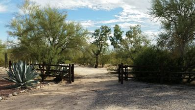 Enjoy 8 acres of tranquil desert grounds hidden away, yet close to everything.