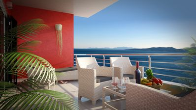 Photo for Villa Divina with Outdoor Pool, Best View, Directly over the Private Beach