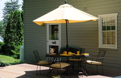 A 12' x 16' deck offers summertime relaxation and dining; grill is available.