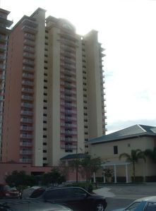 Tower 2 of Blue Heron Beach Resort on Little Lake Bryan, Orlando