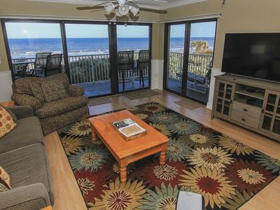 Photo for Family Fun Retreat, Beautiful 2nd Floor Direct Oceanfront, No-Drive Beach!