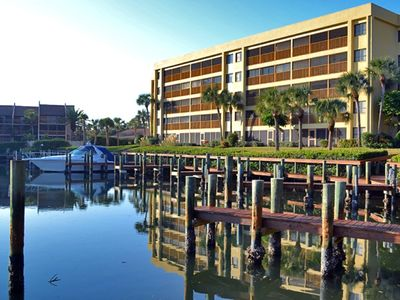 Photo for Spacious vacation rental condo with lagoon views, beach access, and pool