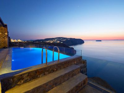 Photo for Point of View Villa Santorini 2br upto 5guests Private Pool