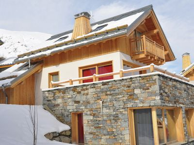 Photo for Panoramic chalet near the mountain village of Valloire