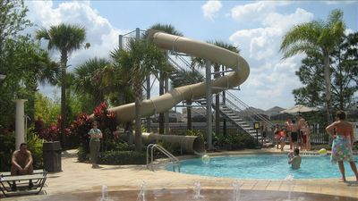 tube slide is just one of the many fun activities for the kids