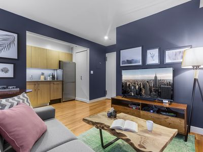 Photo for Hip + Bright Studio w/ Balcony in Charming Chelsea, by Blueground