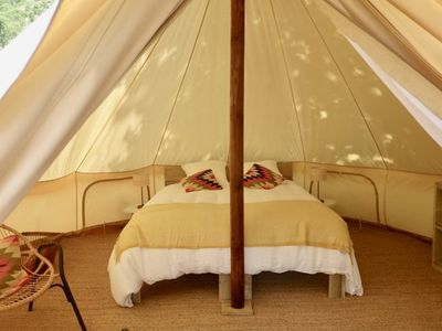 Photo for TENT LODGE LARGE COMFORT IN DOMAIN OF MORE THAN 100 HECTARES IN PROVENCE