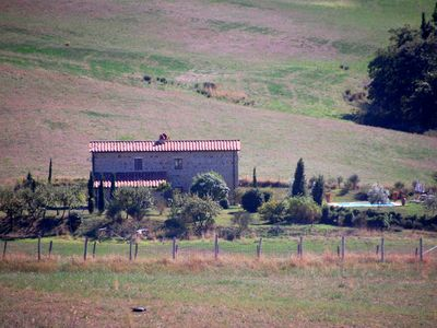 Photo for 4 bedroom Villa, sleeps 8 in Monticchiello with Pool and WiFi