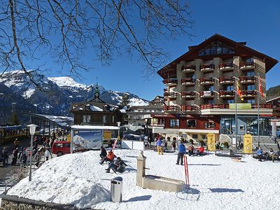 Photo for One bedroom Apartment, sleeps 4 in Wengen with WiFi