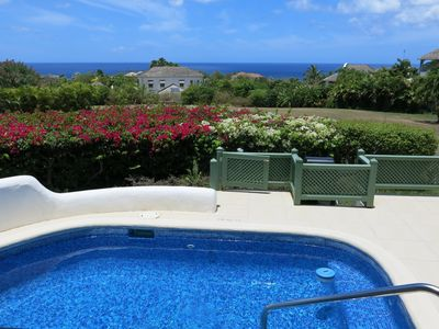 Photo for Seascape - best sea views on Sugar Hill  - own plunge pool, tennis, pools, gym..