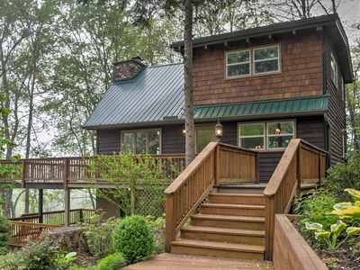 Photo for Franklin 'Willow Cottage' w /Deck on Iotla Creek!