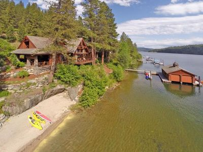 Photo for Incredible Waterfront Lodge for 20 on Lake Coeur d'Alene