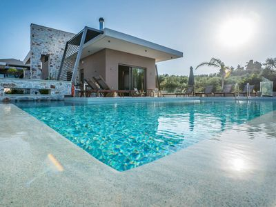 Photo for Afroditi Seaview Luxury Villa, 3 minutes from the beach, Daratso Chania