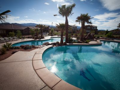 Photo for Large 4 Bedroom Home, 2 Pools & Hot Tub in Backyard- 2 Master Suites