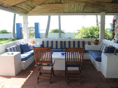 Photo for Beautiful Beachfront Villa - Family Friendly – Steps from the Ocean, Metalio