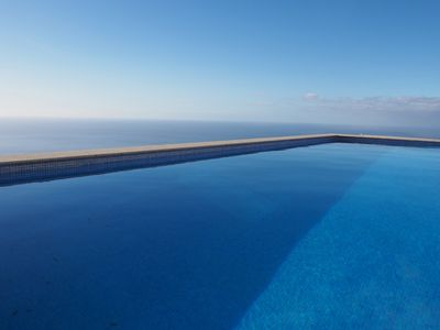 Photo for Blue Ocean Villa. Panoramic Seaview.Heated Pool.Quiet.WIFI.Games Room.Parking