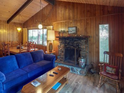 Photo for NEW LISTING! Cozy chalet near lake w/ kitchen, wood stove, deck & free WiFi