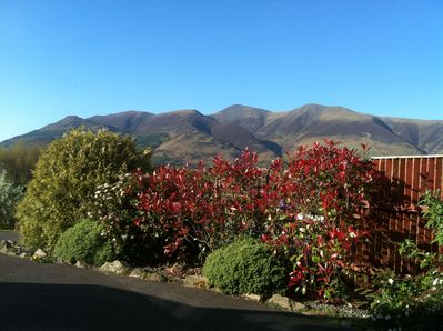View of Skiddaw from the front drive of Riggside