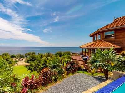 Photo for Oceanfront villa w/ breathtaking views, private pool, great location near beach