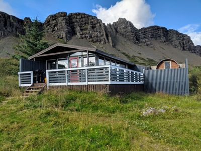 Photo for Múlakot 3 - Cosy cabin with a sauna and panoramic view from the living room
