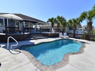Photo for Ocean Inlet Beach Paradise! Waterfront  Private POOL & TIKI HUT!