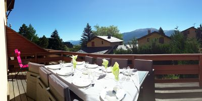 Photo for Appart 57 m² ds chalet, Terrace 25m² south, Free WIFI, Panoramic view