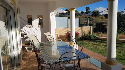 Photo for Spacious house, residential area, terrace with views, garden and pool