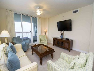 Photo for Beachfront Condo with Large Private Balcony. Onsite Fitness Center and Tennis Courts