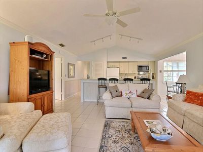 Photo for Beautiful 2 BR Family Friendly Beach and Tennis Club resort w/ screen porch