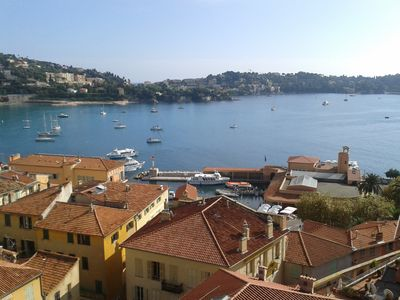 Photo for Large furnished Villefranche sur mer 2 rooms, 50m Sea Aerial Panoramic view