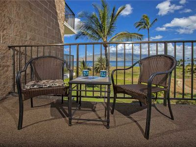 Photo for Stunning views of the Pacific Ocean and Mountains from this 2bd Condo at Kauhale Makai #512