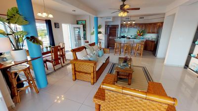 Photo for WATERFRONT VILLA  w/ HUGE private pool, dock, security. Only 1mi to town!!