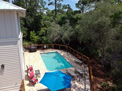 Photo for Turtle Crush, Old Seagrove, private pool, Walk to Seaside and the beach. 4 bikes