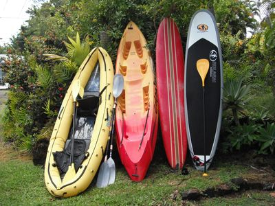 Recent toys that guests can use.  We also provide 3 bikes, boogie boards, masks.