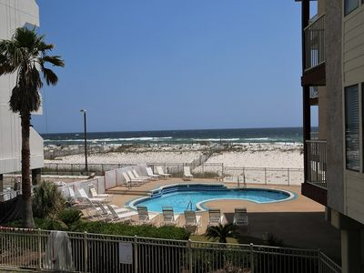 Photo for Southern Sands 103 ~ Prime LOCATION Beach View, Private Balcony, Pool, Walk to town ~ Free WiFi
