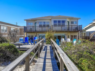 Photo for Oceanfront directly on the beach! Lots to do in Fernandina Beach.