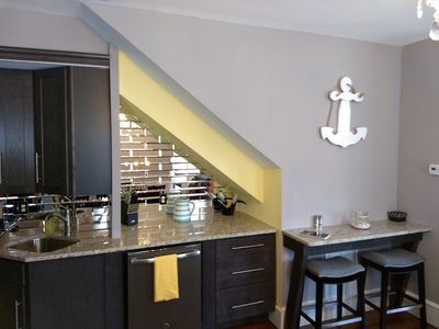 Kitchen and bar area