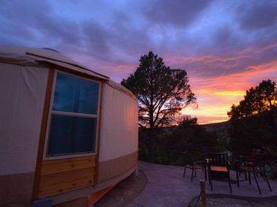 Photo for Yurt Overlook #10 at East Zion Resort (2 King beds)