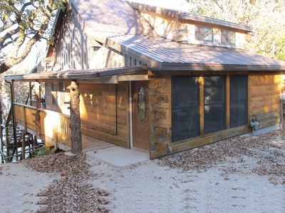 """Just completed cabin, some say """"it feels like being in a tree house."""""""