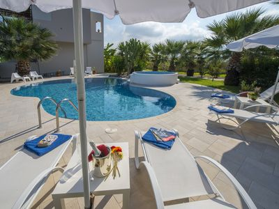 Photo for LUXURY XENOS VILLA 2 WITH 4 BEDROOMS , PRIVATE SWIMMING POOL, NEAR THE SEA