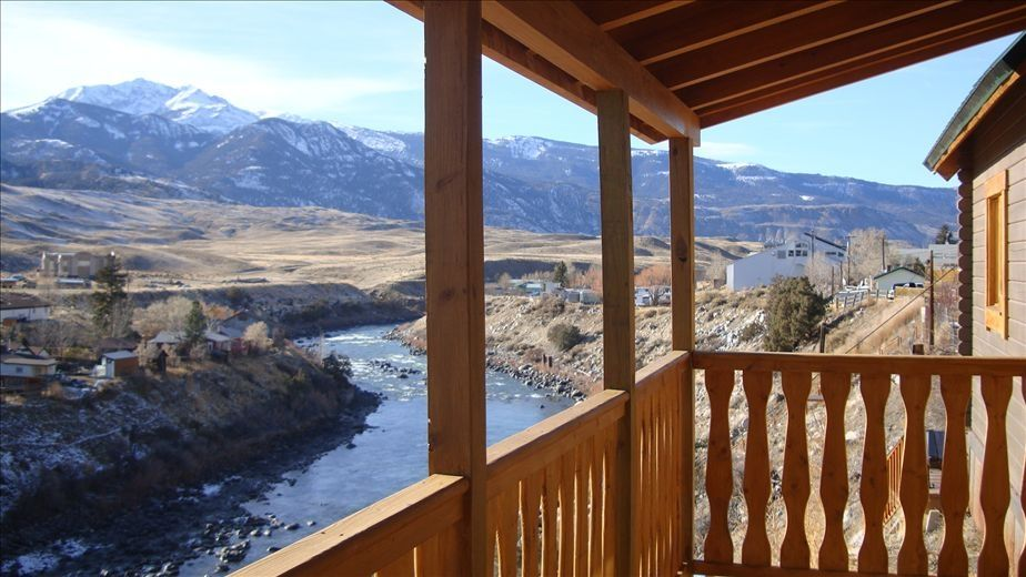 Awesome View Of Yellowstone River From Deck