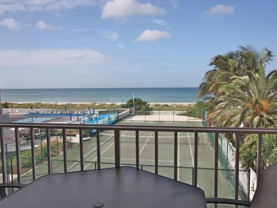 Photo for Beachfront Beauty, Pool, Tennis, Hot Tub, BBQ, W/D, Free Wi-Fi & cable, big balcony - 210 Reef Club