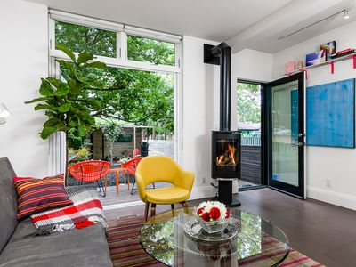 Photo for Crawford Garden Apartment with Fireplace & Parking