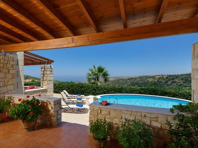 Photo for Breathtaking country & sea view for families and couples with private pool